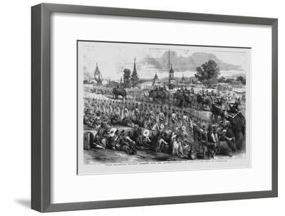 'State Procession Bearing Presents from the Governor-General of India to the King of Ava', 1856-Unknown-Framed Giclee Print