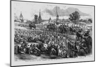 'State Procession Bearing Presents from the Governor-General of India to the King of Ava', 1856-Unknown-Mounted Giclee Print