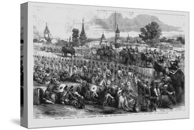 'State Procession Bearing Presents from the Governor-General of India to the King of Ava', 1856-Unknown-Stretched Canvas Print