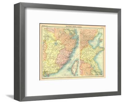 Political map of Eastern China-Unknown-Framed Giclee Print