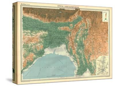 Geographical map of the north-eastern section of India, early 20th century-Unknown-Stretched Canvas Print