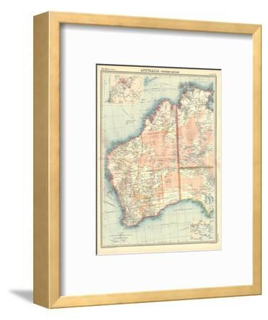Map of Australia - Western Section-Unknown-Framed Giclee Print