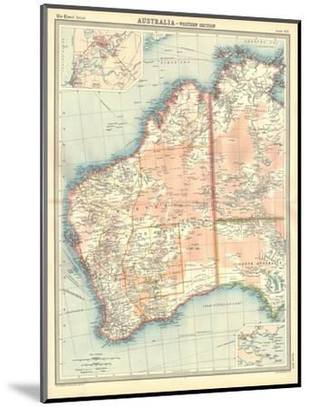 Map of Australia - Western Section-Unknown-Mounted Giclee Print