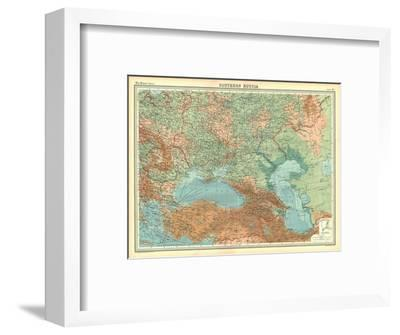 Map of Southern Russia-Unknown-Framed Giclee Print