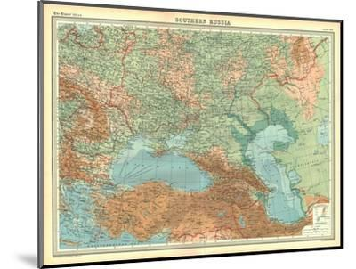 Map of Southern Russia-Unknown-Mounted Giclee Print