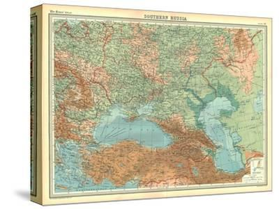 Map of Southern Russia-Unknown-Stretched Canvas Print
