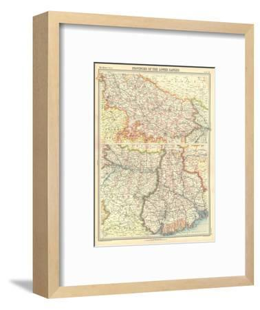 Map of the Provinces of the Lower Ganges-Unknown-Framed Giclee Print