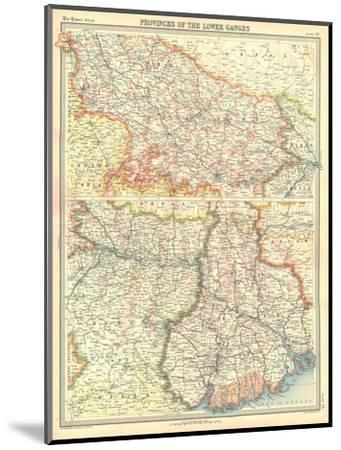 Map of the Provinces of the Lower Ganges-Unknown-Mounted Giclee Print