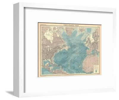 Map of the North Atlantic Ocean-Unknown-Framed Giclee Print