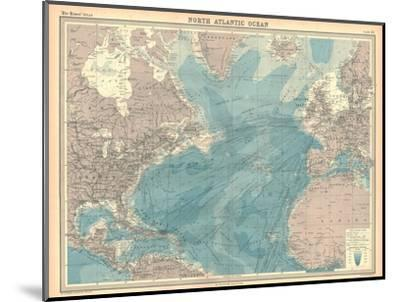 Map of the North Atlantic Ocean-Unknown-Mounted Giclee Print