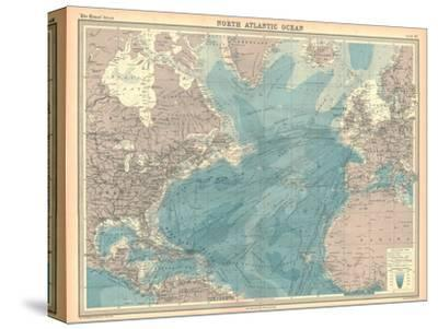 Map of the North Atlantic Ocean-Unknown-Stretched Canvas Print