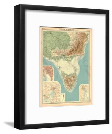 Map of Victoria and Tasmania-Unknown-Framed Giclee Print