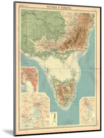 Map of Victoria and Tasmania-Unknown-Mounted Giclee Print