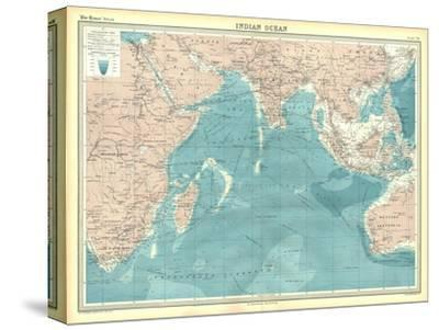 Map of the Indian Ocean-Unknown-Stretched Canvas Print