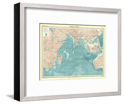 Map of the Indian Ocean-Unknown-Framed Giclee Print