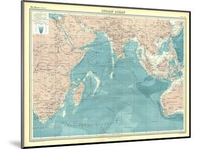 Map of the Indian Ocean-Unknown-Mounted Giclee Print