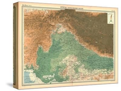 Map of India - North Western Section-Unknown-Stretched Canvas Print