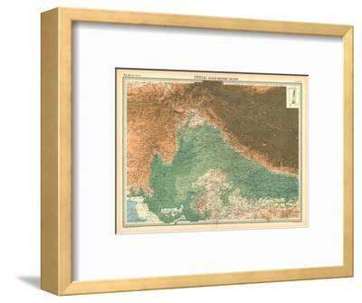 Map of India - North Western Section-Unknown-Framed Giclee Print