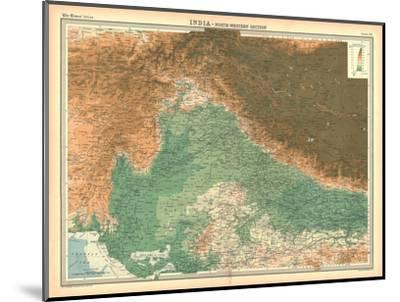 Map of India - North Western Section-Unknown-Mounted Giclee Print