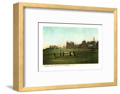 'Driving on the Golf Course, St. Andrews'-Unknown-Framed Photographic Print