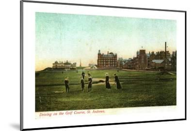 'Driving on the Golf Course, St. Andrews'-Unknown-Mounted Photographic Print