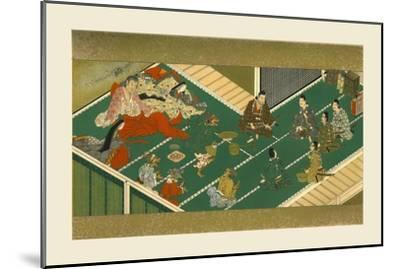 Raiko and his comrades before the demon robber, 17th century, (1886)-Unknown-Mounted Giclee Print