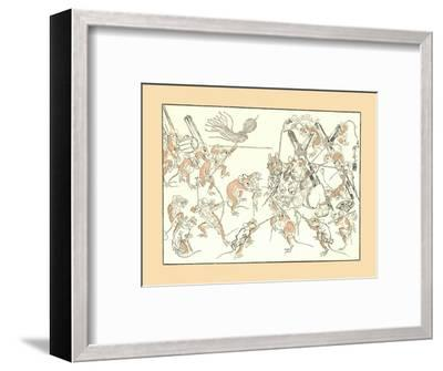 'Retribution, the Rats and the Cat', 1878, (1886)-Unknown-Framed Giclee Print