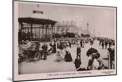 'The Leas & Bandstand, Folkestone', late 19th-early 20th century-Unknown-Mounted Giclee Print