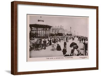 'The Leas & Bandstand, Folkestone', late 19th-early 20th century-Unknown-Framed Giclee Print