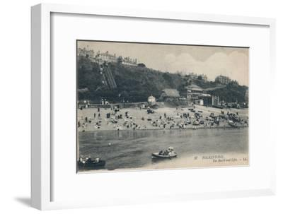 'Folkestone. The Beach and Lifts', late 19th-early 20th century-Unknown-Framed Giclee Print