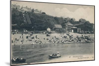 'Folkestone. The Beach and Lifts', late 19th-early 20th century-Unknown-Mounted Giclee Print