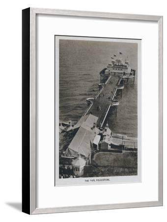 'The Pier, Folkestone', late 19th-early 20th century-Unknown-Framed Giclee Print
