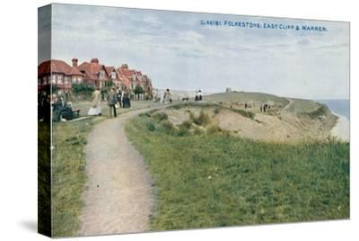 'Folkestone: East Cliff & Warren', late 19th-early 20th century-Unknown-Stretched Canvas Print