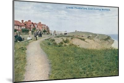 'Folkestone: East Cliff & Warren', late 19th-early 20th century-Unknown-Mounted Giclee Print
