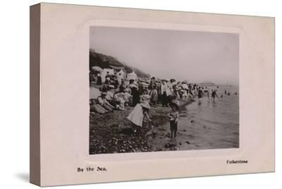 'By the Sea, Folkestone', late 19th-early 20th century-Unknown-Stretched Canvas Print