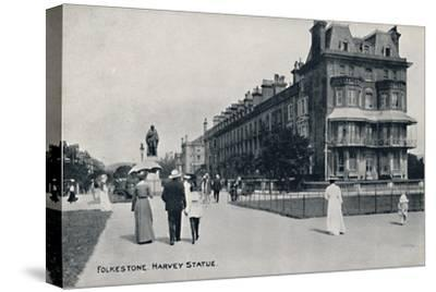 'Folkestone. Harvey Statue', late 19th-early 20th century-Unknown-Stretched Canvas Print