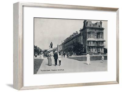 'Folkestone. Harvey Statue', late 19th-early 20th century-Unknown-Framed Giclee Print