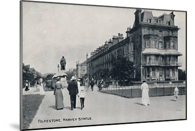 'Folkestone. Harvey Statue', late 19th-early 20th century-Unknown-Mounted Giclee Print