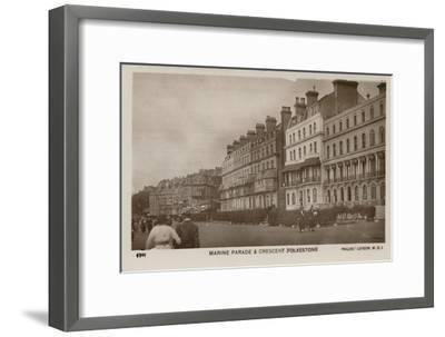 'Marine Parade & Crescent Folkestone', late 19th-early 20th century-Unknown-Framed Giclee Print