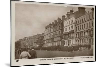 'Marine Parade & Crescent Folkestone', late 19th-early 20th century-Unknown-Mounted Giclee Print