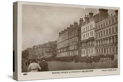 'Marine Parade & Crescent Folkestone', late 19th-early 20th century-Unknown-Stretched Canvas Print