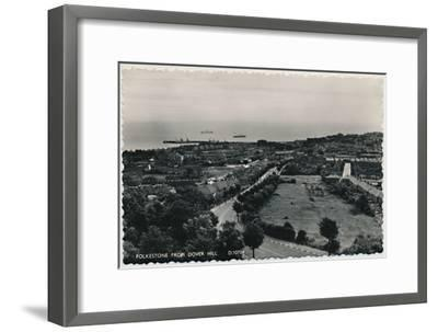 'Folkestone from Dover Hill', late 19th-early 20th century-Unknown-Framed Giclee Print