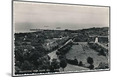 'Folkestone from Dover Hill', late 19th-early 20th century-Unknown-Mounted Giclee Print