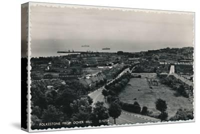 'Folkestone from Dover Hill', late 19th-early 20th century-Unknown-Stretched Canvas Print