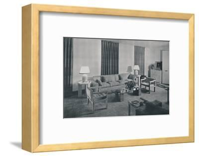 'Living room in the apartment of Samuel A. Marx', 1942-Unknown-Framed Photographic Print