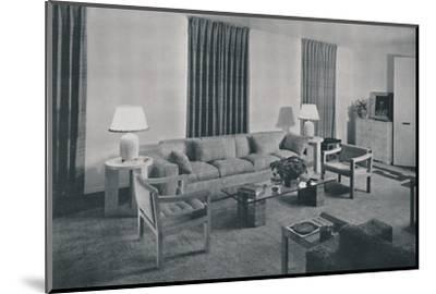'Living room in the apartment of Samuel A. Marx', 1942-Unknown-Mounted Photographic Print
