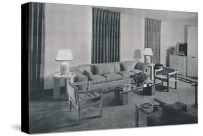 'Living room in the apartment of Samuel A. Marx', 1942-Unknown-Stretched Canvas Print