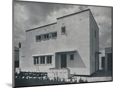 'House at Hoghton, Lancs., by Frank Waddington', 1942-Unknown-Mounted Photographic Print