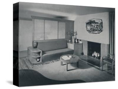 'House at Pomona, California - the living room from the other side of the partition', 1942-Unknown-Stretched Canvas Print
