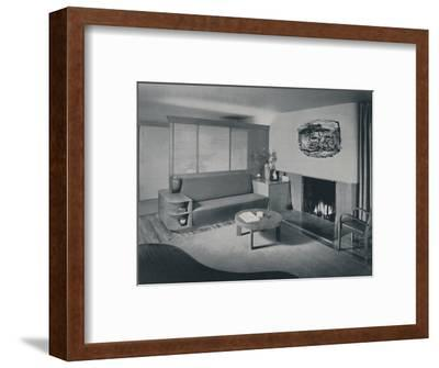 'House at Pomona, California - the living room from the other side of the partition', 1942-Unknown-Framed Photographic Print